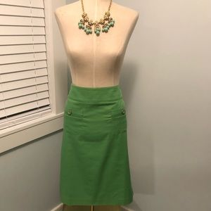 NWT Talbots Green Front Pockets Skirt